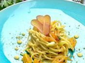 Spaghetti alla bottarga maionese datterini gialli