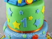 Torta compleanno bimbo piani: macchinina tridimensionale pasta zucchero
