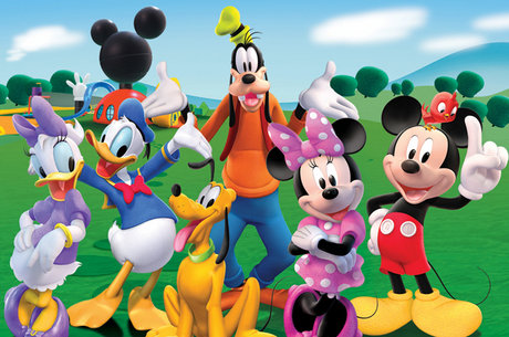 In the Steet...Mickey Mouse, Donald Duck, Minnie, Daisy Duck, Goofy, Pluto & company