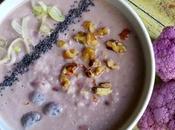 Zuppa cavolfiore rosa