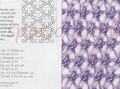 Punto perline ferri Knitted beads stitch