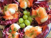 Radicchio salmone mozzarella