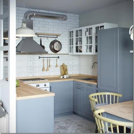 piccoli spazi] Cucina divisa da vetrata - Paperblog