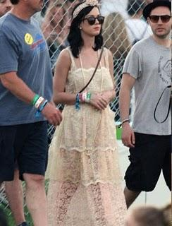 Katy Perry in D&G; at Coachella Music Festival Fashion