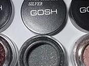 GOSH Effect powder: Plummy, Holographic Silver, Meringue