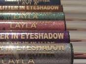 Layla Cosmetics Glitter Eyeshadow REVIEW SWATCHES
