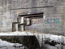 Bunkers abbandonati della guerra mondiale