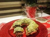 Ciambella farcita cheddar, salame spinaci