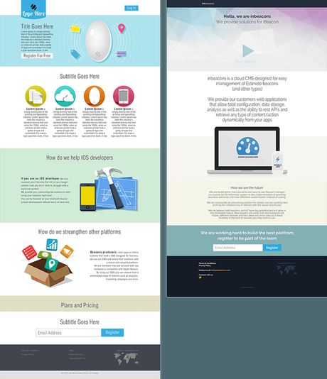 inbeacons landing pages