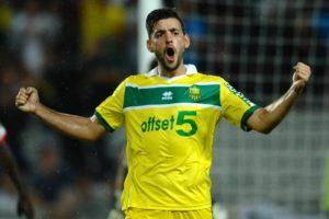 Filip Djordjevic, 29 anni, ai tempi del Nantes. Il calciatore serbo, in Francia, ha disputato le sue migliori stagioni.