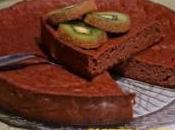 Torta patate dolci aggiunta cacao kiwi