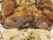 Pollo ripieno carne macinata piselli