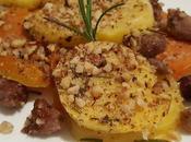 Gratin zucca forno patate, salsiccia nocciole