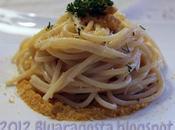 Spaghetti cacio pepe riccio mare bottarga