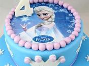 Torta Frozen Disney pasta zucchero Elsa cialda