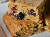Blondies integrali mirtilli gocce cioccolato bianco Whole wheat blueberries white chocolate chips blondies