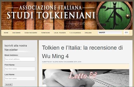 Tolkien e l'Italia di Oronzo Cilli: la rassegna stampa