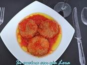 Polpette ripassate salsa pomodoro