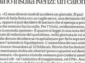 """Sergio Staino: ruggito coniglio"""" giorno pecora"""": """"Matteo Renzi cafone"""""""