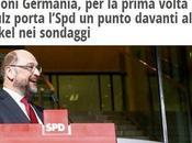 Elezioni Germania: Schulz davanti alla Merkel