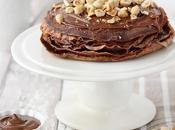 Torta crepes cioccolato nocciole