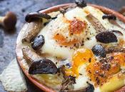 Uova cocotte funghi pranzo light facile gustoso