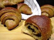 Croissant farro grano arso burro vegetale ripieno cioccolato