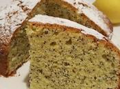 Torta soffice limone semi papavero olio