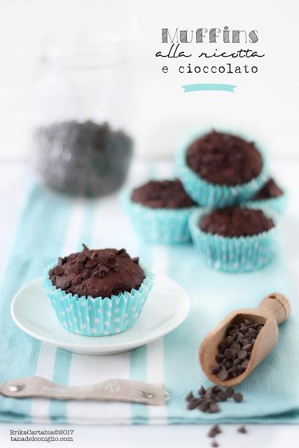 Muffins alla ricotta e cioccolato