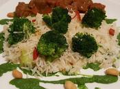 Riso basmati crema broccoli agli arachidi... senza spezzatino stufato bovino