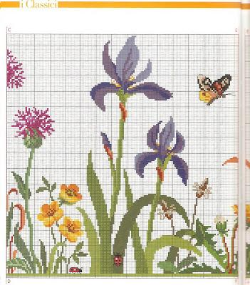 Tende di lino ricamate a punto croce - Paperblog