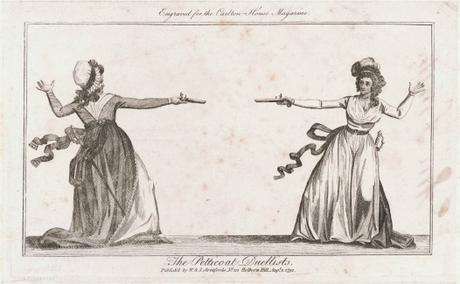 The 'Petticoat Duellists' of 1792 and of 1892.