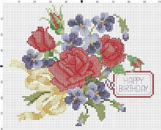 Punto croce schemi mazzi di fiori paperblog for Schemi di cabina di log