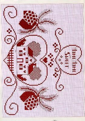 Schema punto croce-allegre tende da cucina - Paperblog