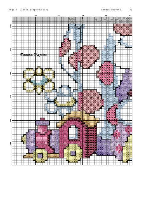 Schemi punto croce la simpatica giraffa colorata cross for Giraffa punto croce