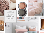 Ispirazioni camera letto stile Hygge. Rosa blush rame