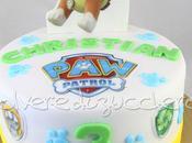 Torta decorata Patrol compleanno bimbo cagnolino Rubble cialda