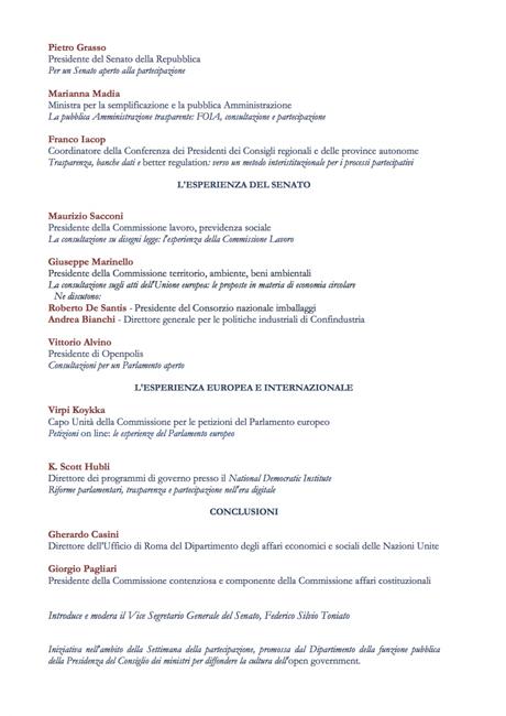 """Openpolis al senato per la giornata della """"rappresentanza e partecipazione"""""""