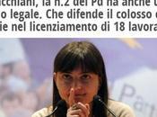 """Debora Senzacca Serracchiani, l'onorevolessa avvocata difende l'aziendona contro lavoratori licenziati Lingotto urlare sinistra siamo noi"""", mentre suoi soci """"avvallano"""""""
