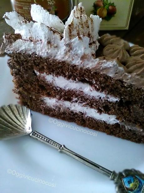 Trancio al Cioccolato e Crema di Nocciole