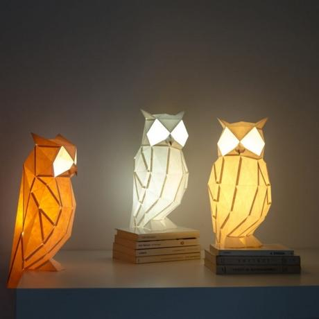 DESIGN: Le lampade di carta di Owl Paperlamps ispirate agli origami