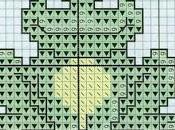 Schemi bavaglini ricamare punto croce