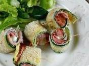 Rotolini zucchine prosciutto mozzarella