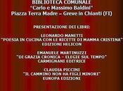 Venerdi Aprile alla Biblioteca Greve Chianti presentazione libri Leonardo Manetti, Claudia Piccini Emanuele Martinuzzi