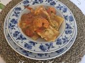 Ravioli mare sughetto pomodorini code gamberi