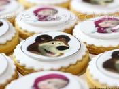Biscotti decorati Masha Orso pasta zucchero cialda alimentare