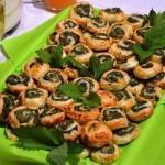 Girelle di verdure e pecorino con uova mimosa