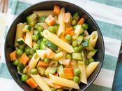 Pasta piselli, carote zucchine