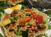 Cestini grattugiato fresco Bella Lodi senza lattosio, insalata orzo misto verdure