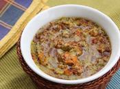 Riscaldare Minestrone Fiori Zucca Quinoa Rossa Bianca Mixed Vegetable Soup with Squash Blossoms White